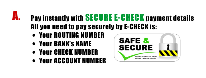 Pay securely with E-Check