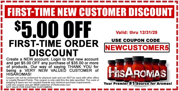 FIRST-TIME NEW CUSTOMER DISCOUNT