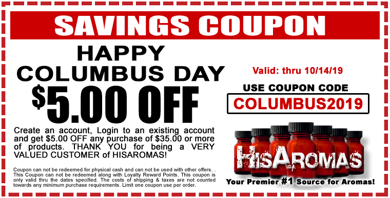 Savings Coupon - Columbus Day